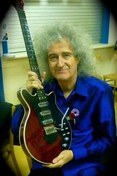 """All i want in life is just to touch that guitar it is actually a legend -Brian may's homemade """"Red special"""""""