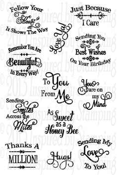 Trendy Circle Sentiments from Inspired by Stamping