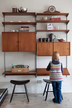 Midcentury Home Office by One Small Room - OSR Interiors & Building Design