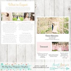 Wedding Photography Magazine Template   Page Digital Magazine
