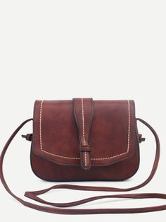 Coffee Faux Leather Saddle Bag Leather Saddle Bags f6f97cb2fdfaf
