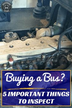 It's buying a bus day! Are you nervous? One thing that puts my mind at ease is Jeff's checklist of the 5 Important Things to Inspect Before Buying a Bus. Buy A School Bus, School Bus House, Converted School Bus, Magic School Bus, Bus Remodel, Trailer Remodel, Bus Living, Tiny Living, Rv Bus