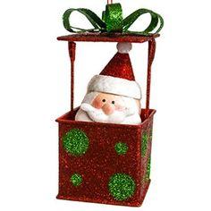 Santa Gift Box Ornament http://shop.crackerbarrel.com/Santa-Gift-Box-Ornament/dp/B013H3NG5M