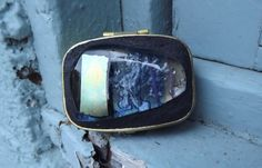 Rectangle Push Button Pill Box Fused Glass Pill by FancyThatFusion, $30.00