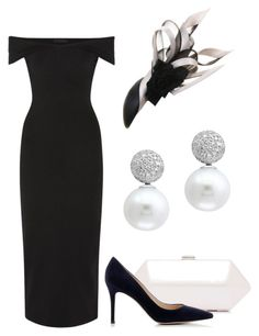"""""""Royal Ascot"""" by claire-hamilton-bristol ❤ liked on Polyvore featuring The Row, Philip Treacy, Gianvito Rossi and Effy Jewelry"""