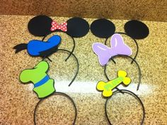 Mickey Mouse clubhouse party hats / headbands / favors on Etsy, $18.00