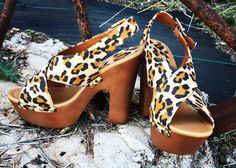 Leopard heel and just for 30.00