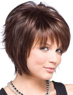 Hair Styles For Women Frisuren frauen ab 50 Haircuts For Fine Hair, Hairstyles For Round Faces, Short Hairstyles For Women, Hairstyles With Bangs, Cool Hairstyles, Style Hairstyle, Hairstyle Ideas, Hairstyle Short, Layered Hairstyles