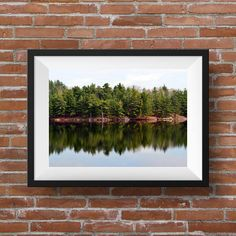 "Forest Lake Reflexion | Canadian Landscape Photography | Quebec, Canada | Large Wall Art Print | Fine Art Photography | ""R... lake Orford"""