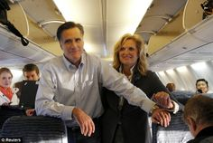ann romney new hampshire | Moving on: Mitt Romney and his wife Ann talk to reporters and aides on ...