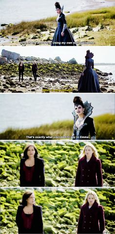 """Now, that is a new low. Using my own son against me"" - The Evil Queen, Regina and Emma #OnceUponATime"