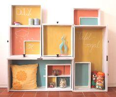 Tafelfarbe selbermachen & ein Regal aus Schubladen bauen // DIY