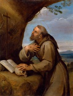 Francesco Albani - Saint Francis of Assisi Praying before a Crucifix