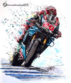 Motorcycle Racers, Motorcycle Art, Bike Art, Yamaha Motorcycles, Cars And Motorcycles, Dragon Sports, Gp Moto, Moto Ducati, Speed Art