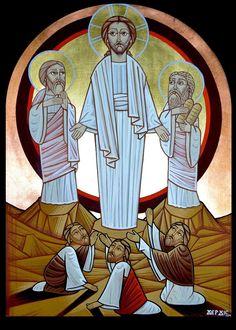 Religious Icons, Religious Art, Jesus E Maria, The Transfiguration, Church Logo, Christ Is Risen, Byzantine Icons, Art Icon, Jesus Is Lord