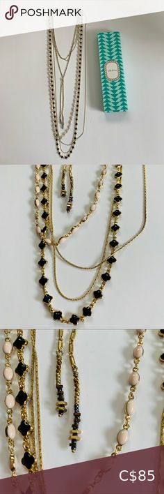 Stella & Dot Terny 6-in-1 necklace! In excellent used condition 6-in-1 necklace with golds, creams and blacks. Extremely versatile, can be worn so many different ways! ** Box not included** 💰💥Bundle & Save! MINIMUM 20% off bundles! Buy more, save more - make the shipping costs worthwhile 😉 Stella & Dot Jewelry Necklaces Pearl Statement Necklace, Lariat Necklace, Collar Necklace, Crystal Necklace, Stella And Dot Necklace, Stella And Dot Jewelry, Crescent Necklace, Stella Dot, Black Backpack