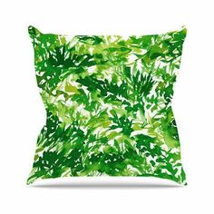 """East Urban Home In the Meadow 1 Ebi Emporium Abstract Painting Throw Pillow Size: 26"""" H x 26"""" W x 4"""" D"""