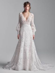 FINLEY ANTIQUE IVORY Colored Wedding Dresses, Dream Wedding Dresses, Designer Wedding Dresses, Bridal Dresses, Wedding Gowns, Lace Wedding, Wedding Bells, Wedding Ceremony, Maggie Sottero