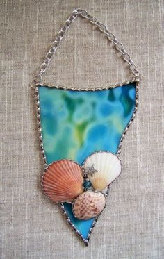 Stained Glass Seashell Art by