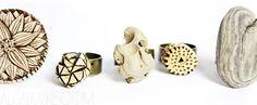 alisaburke: fashion friday- wood rings