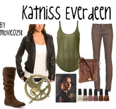 Katniss style! I always find myself drawn to this style that I would dub 'survivalist chic'. -Erica #SurvivalistOutfit