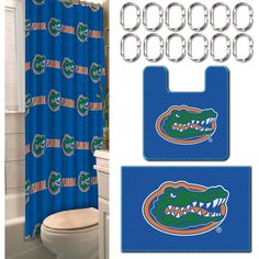 NCAA Florida State Seminoles 18 Piece Bath Ensemble Set Includes 1 Shower Curtain 12 Hooks