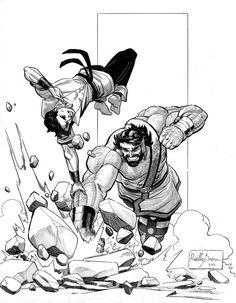 Karate Kid vs. Hercules by Reilly Brown