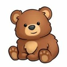 bears clipart - Google Search Cute Animal Drawings, Kawaii Drawings, Easy Drawings, Cute Cartoon Animals, Baby Animals, Cute Animals, Bear Clipart, Cute Clipart, Cute Animal Clipart