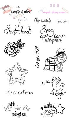 Col·lecció de segells per scrapbooking CLAR I CATALÀ