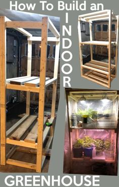 Small greenhouse: Easy DIY Small Greenhouse: How to build an indoor greenhouse to start seeds, grow vegetables or grow tropical plants indoors. garden diy how to build DIY Small Greenhouse for vegetables and seed starting Diy Small Greenhouse, Outdoor Greenhouse, Cheap Greenhouse, Greenhouse Interiors, Backyard Greenhouse, Greenhouse Plans, Greenhouse Wedding, Greenhouse Vegetables, Pallet Greenhouse
