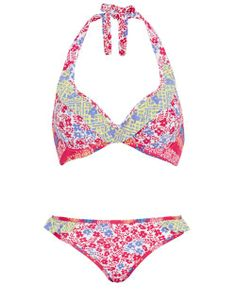 Midnight Grace Santana Underwired Frill Halter Bikini Set in Reds #SS14SWIM #VivaLaFiesta #figleaves