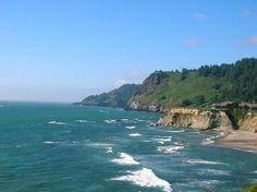 Devil's Punch Bowl Park Coastline Newport Oregon