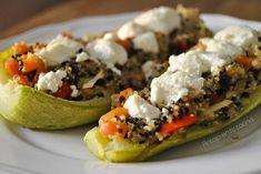 calabacin relleno de quinoa y verduras Tacos, Mexican, Ethnic Recipes, Kitchen, 3, Food, Vegetarian Cooking, Healthy Food, Ethnic Food