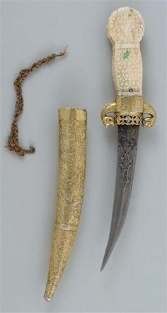 Dagger with sheath    Ottoman. Mid-16th Century.  Osmanisch. Mitte 16. Jahrhundert.       Rüstkammer
