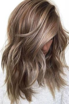 Ashy Brown Hair with Icy Blonde Highlights