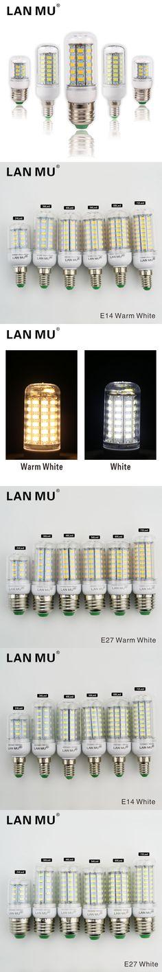 Lampada LED Bulb E27 LED Lamp 5730 SMD LED Lights Corn Bulb 24 36 48 56 69 72Leds E14 Chandelier Candle Lighting Home Decoration