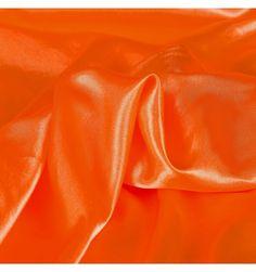 Satin uni orange 110cm
