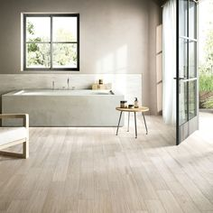 Aequa Series Porcelain Wood Look Tile- Nix Stone Bathroom, Bathroom Floor Tiles, Tile Floor, Master Bathroom, Wall Tile, Wood Effect Porcelain Tiles, Wood Effect Tiles, Porcelain Floor, Wood Grain Tile