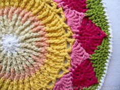 Protea Mandala 10 King Protea Mandala  {Another Crochet Mandala}