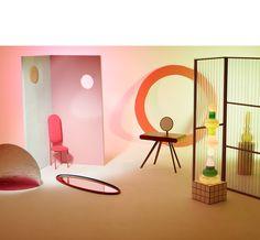 reflection / design / interior / pink / yellow