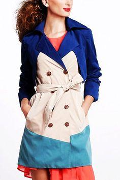 Trench Coats for Women   ... Trench Coats for Women - Charming 3 Tone Long Trench Coats for Women