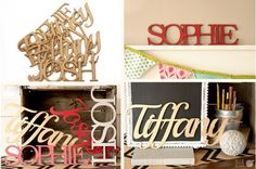 Custom Wooden Names. Block or cursive! Only $6.99!