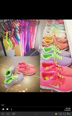 2a72d2fd406 shoes nike nike sneakers fluo t-shirt tank top bright sneakers bright neon  pastel sportswear nike free run women cute pretty lovely sportswear  sportswear ...