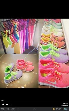 Neon gym clothes - I want them all!!! #fitness #girls #sexy
