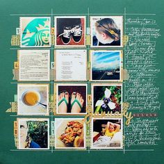 Idea for monthly page- POM Scrap Book Ideas | Just Imagine - Daily Dose of Creativity