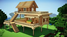 Minecraft: Starter House Tutorial - How to Build a House in Minecraft / ...