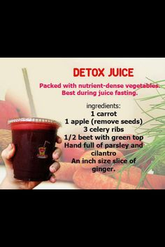 Yum! with cilantro! Detox Juice