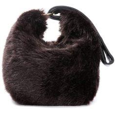 Victoria Beckham Tissue Faux-Fur Handbag (£556) ❤ liked on Polyvore featuring bags, handbags, shoulder bags, brown, faux fur shoulder bag, handbags shoulder bags, faux fur handbags, brown handbags and man shoulder bag