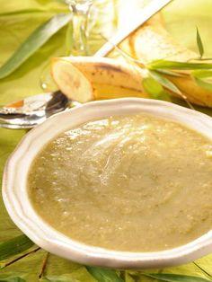 Recette Soupe de courgette à la banane, notre recette Soupe de courgette à la banane - aufeminin.com