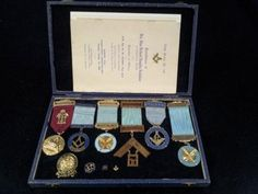 Dads masonic medals